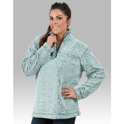Unisex Sherpa Fleece Quarter-Zip Pullover