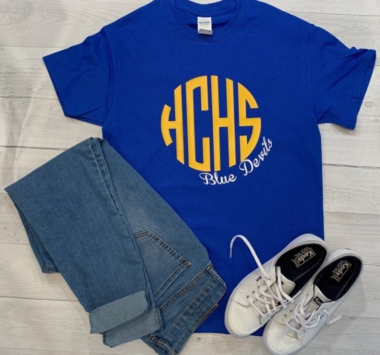 HCHS Monogram T-shirt - Short OR Long Sleeve