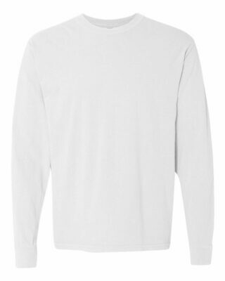 Comfort Color Long Sleeve T-shirt with choice of front chest design