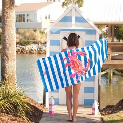 Crab Stripe Towel