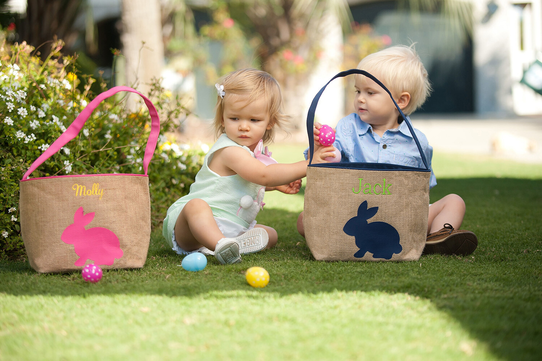 Burlap Bunny Bucket