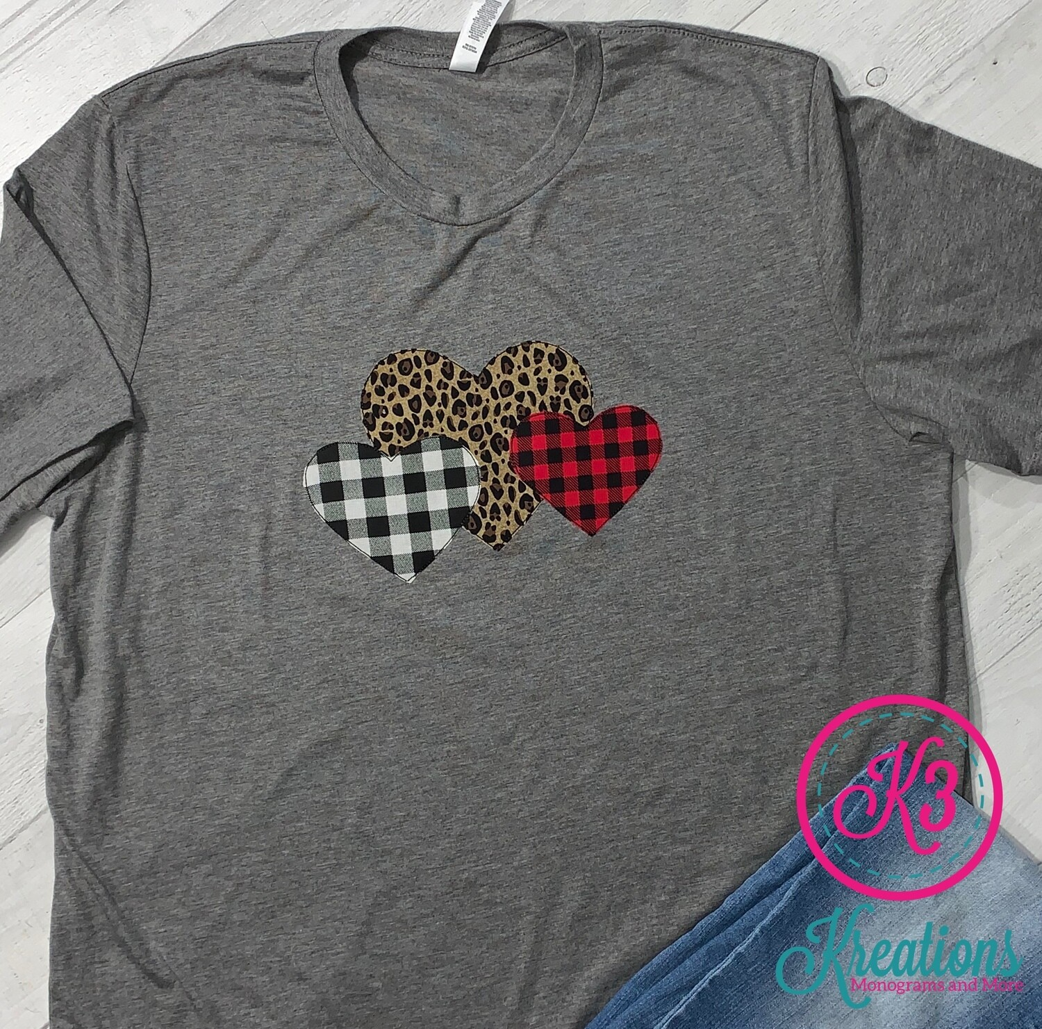 Heart Trio Jersey Long Sleeve Tee