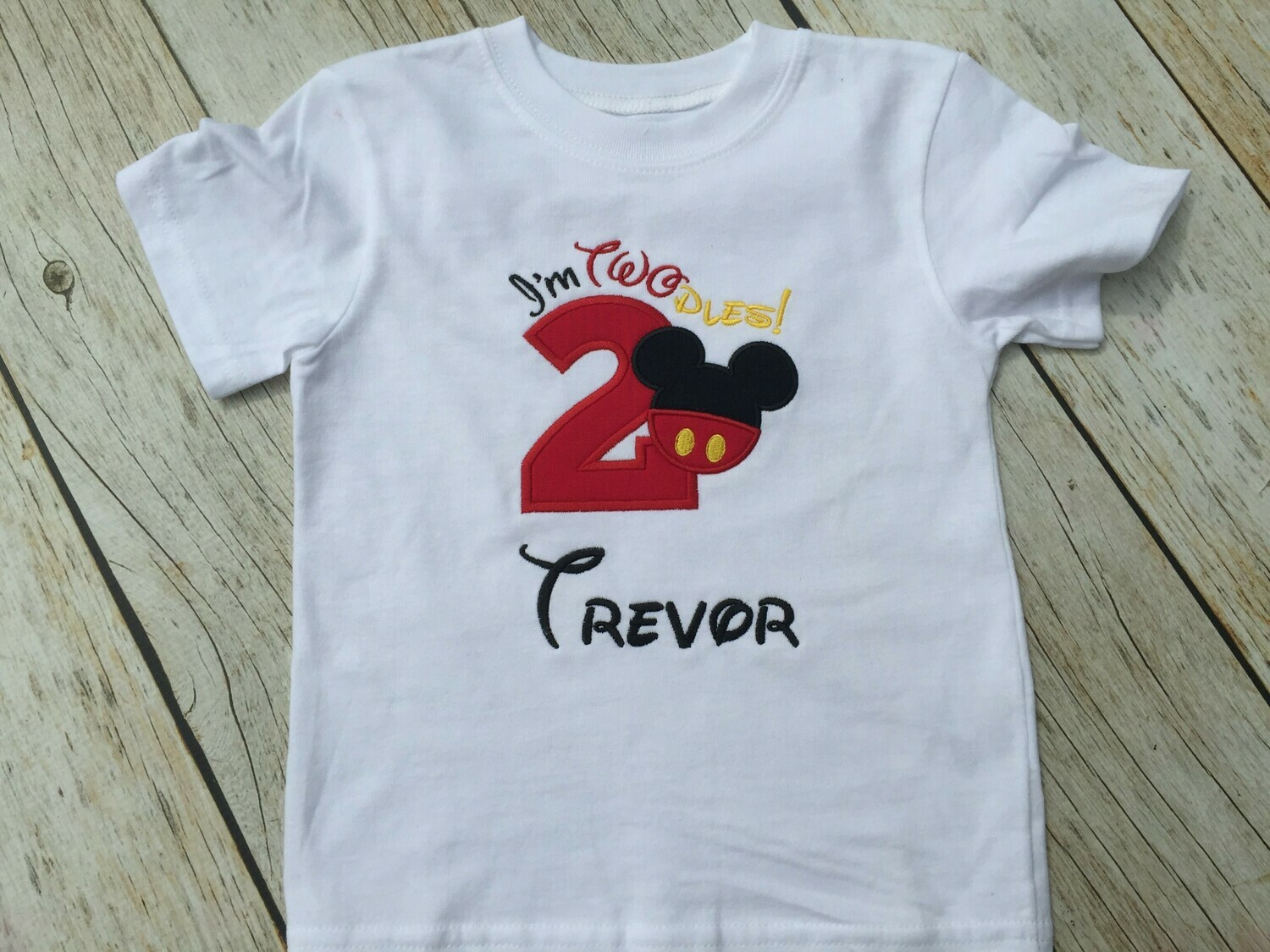 "I'm ""TWOdles"" Mickey Mouse Birthday Shirt"