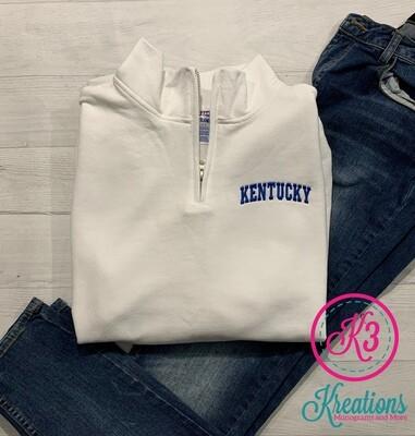 Kentucky Quarter Zip Sweatshirt