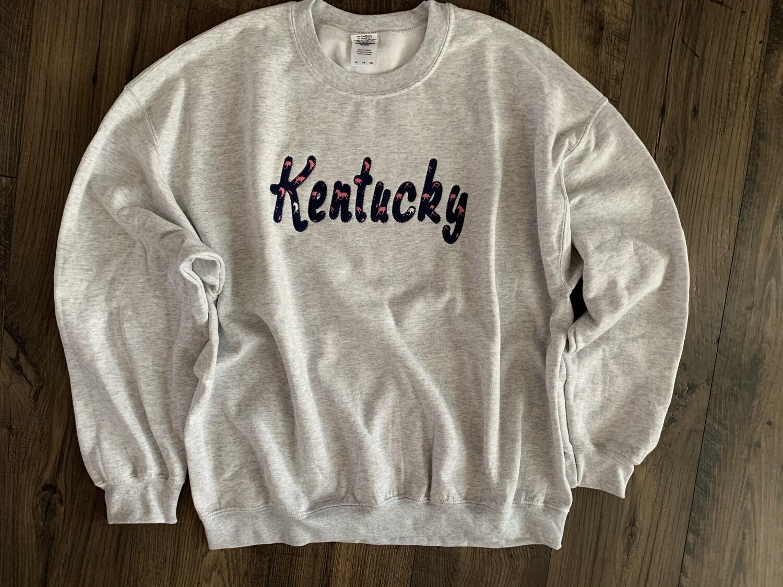 Kentucky Horse Sport Grey Crewneck Sweatshirt