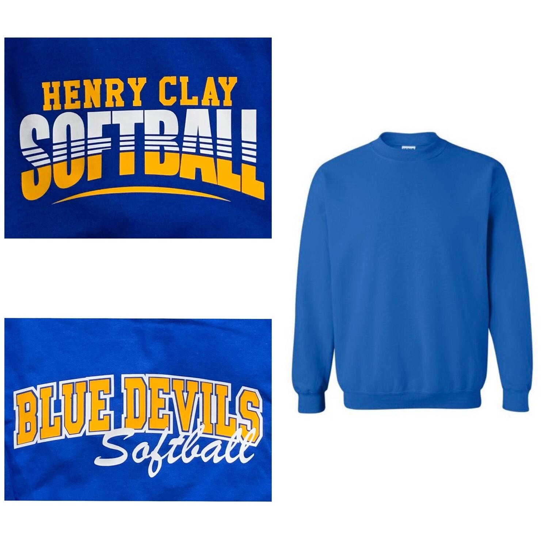 Crewneck sweatshirt with choice of front chest HC Logo