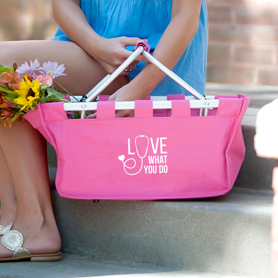 Love What You Do Hot Pink Market Tote