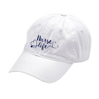 Nurse Life White Cap