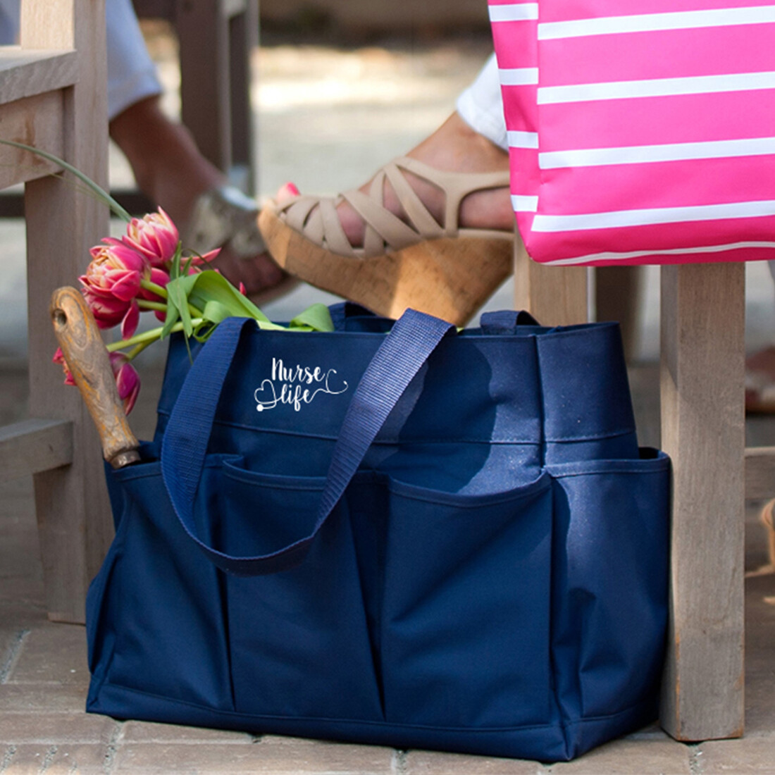 Nurse Life Navy Carry All Tote Bag