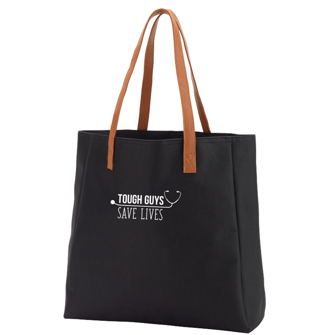 Tough Guys Save Lives Black Tote
