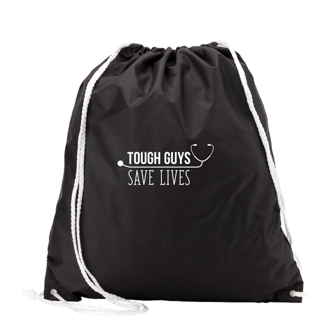 Tough Guys Save Lives Black Gym Bag