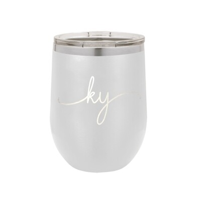 Kentucky Rep Your State White Tumbler