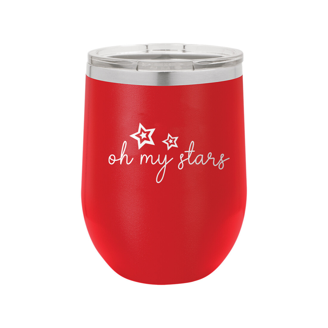 Red Oh My Stars Tumbler
