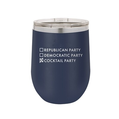 Navy Cocktail Party Tumbler