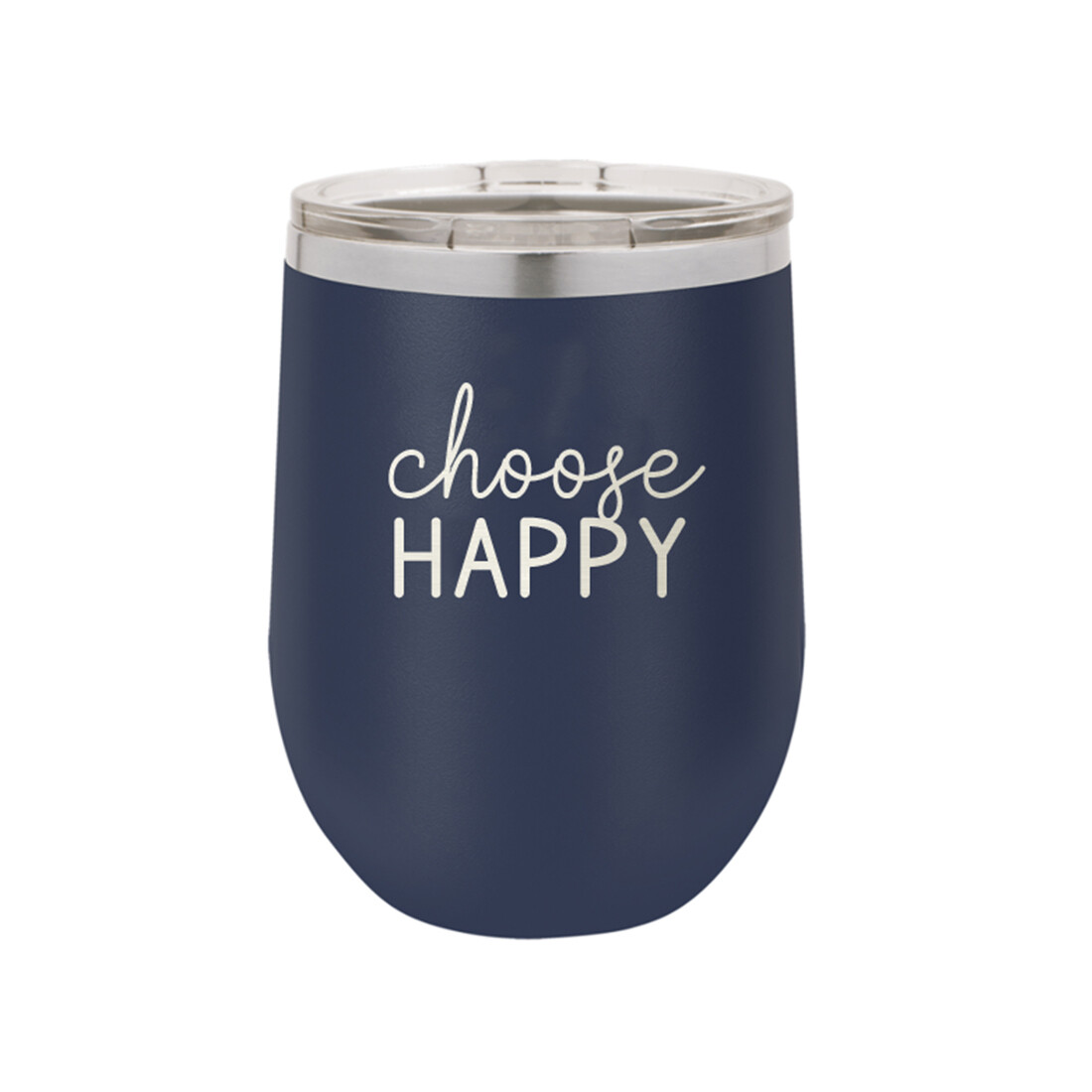 Navy Choose Happy Tumbler