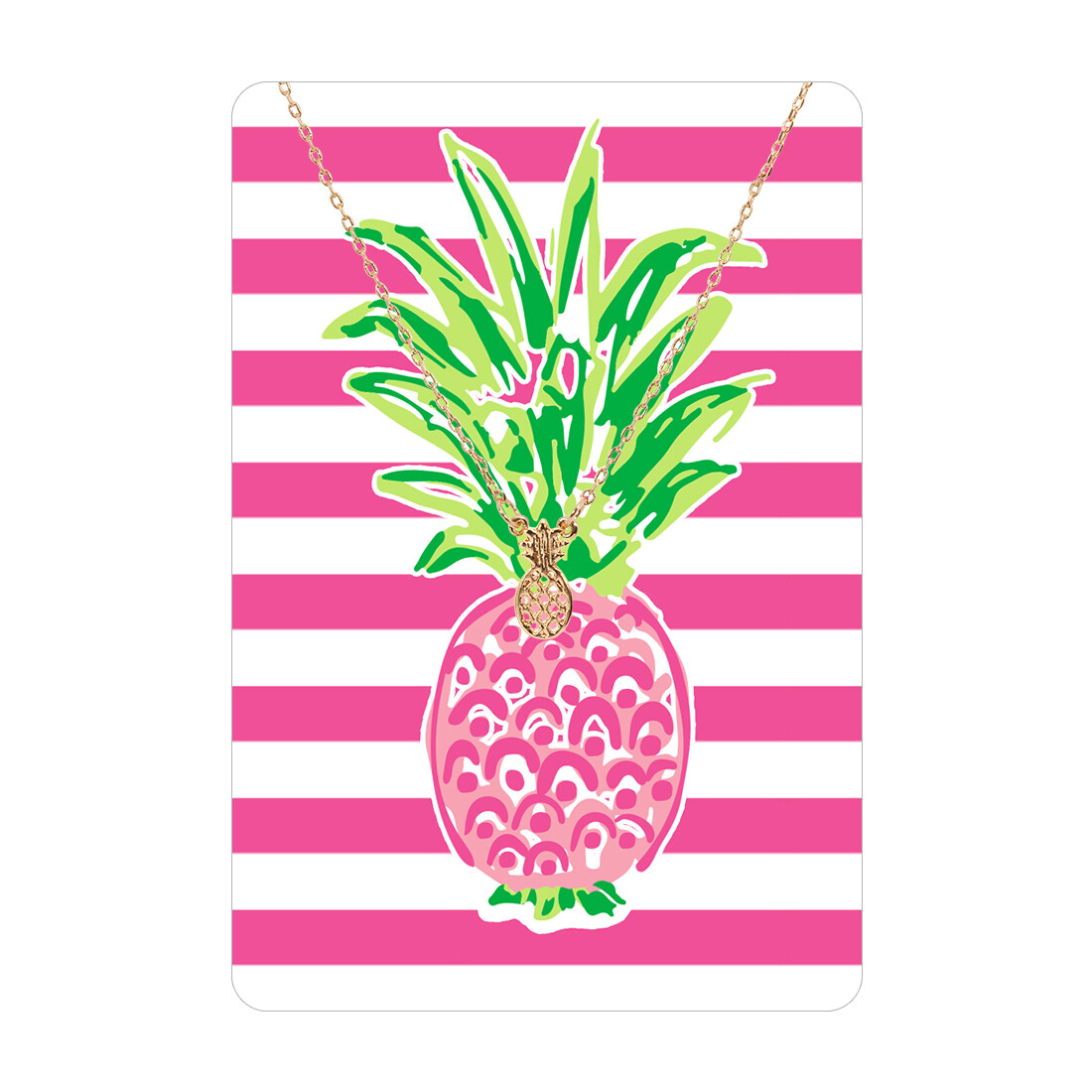 Pineapple Necklace Card