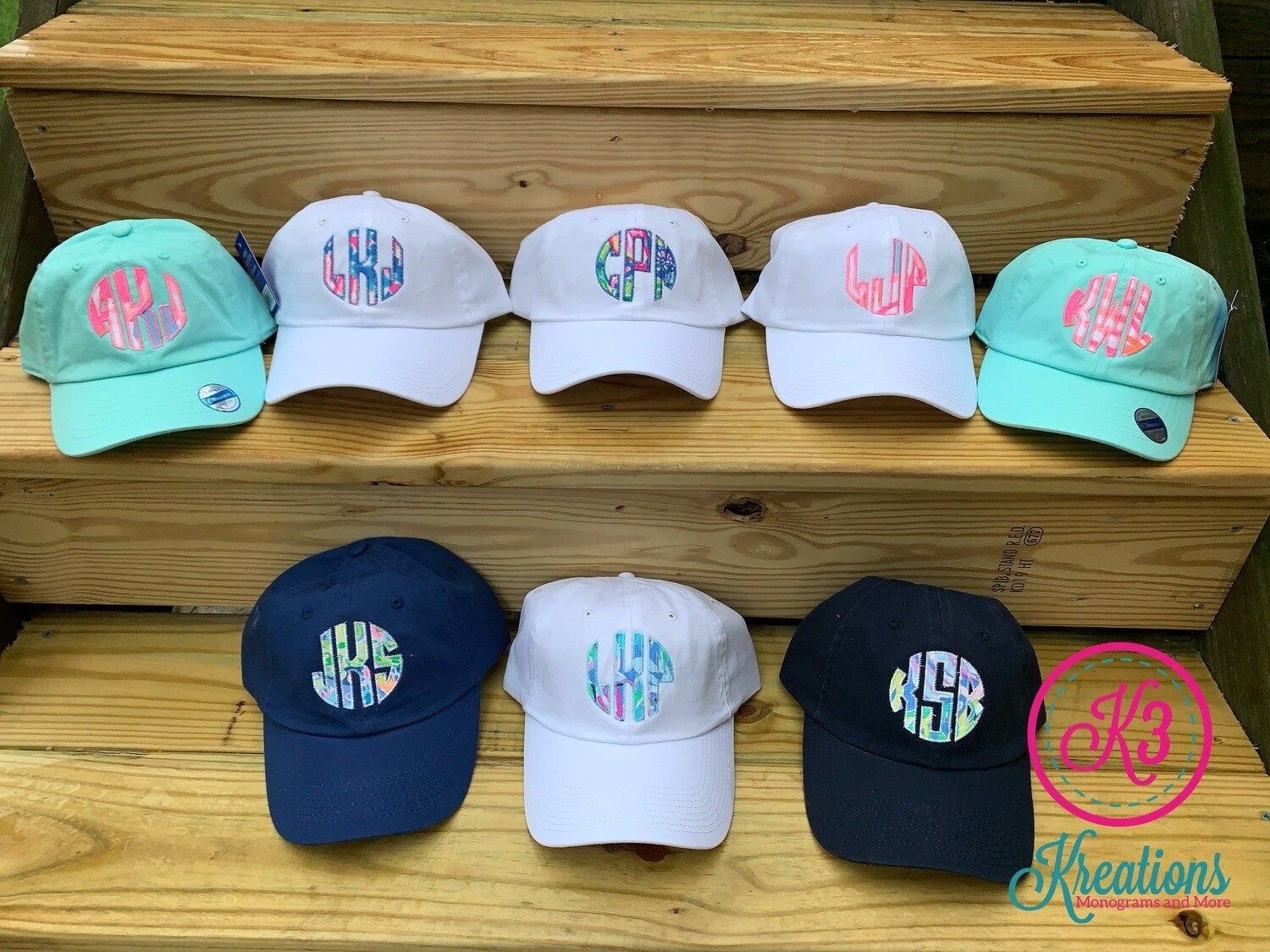 Monogram Lilly Print Cap