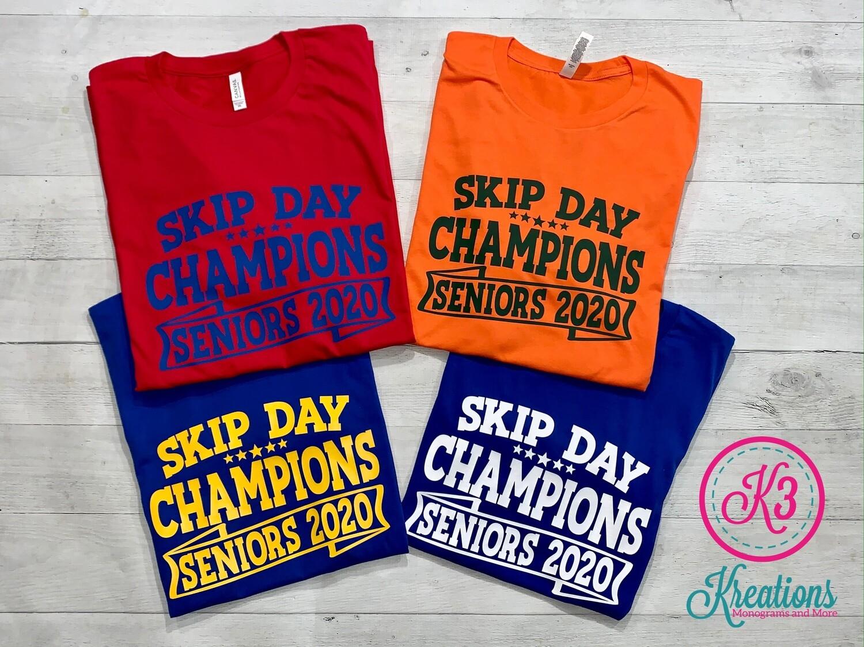 Skip Day Champions Seniors 2020 Short Sleeve Jersey Tee