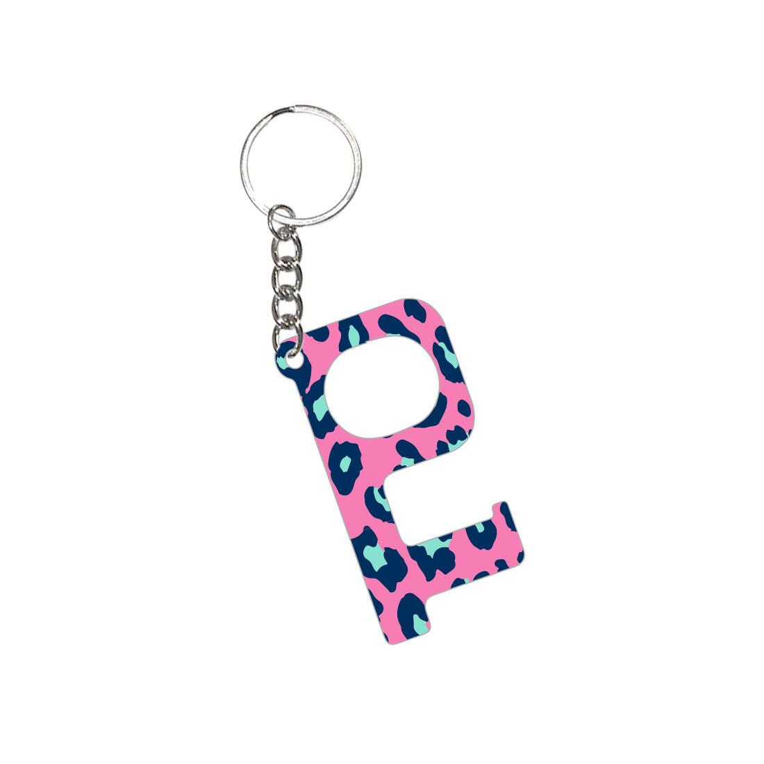 PRE-ORDER Hot Pink Leopard Hands-Free Keychain