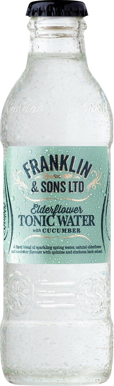 Franklin & Sons Elderflower Tonic Water with Cucumber (200ML x 12)
