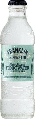 Franklin & Sons Elderflower Tonic Water with Cucumber (200ML x 12)