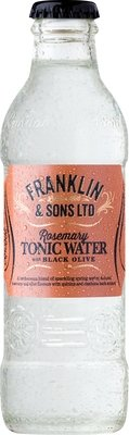 Franklin & Sons Rosemary Tonic Water with Black Olive (200ML x 12)