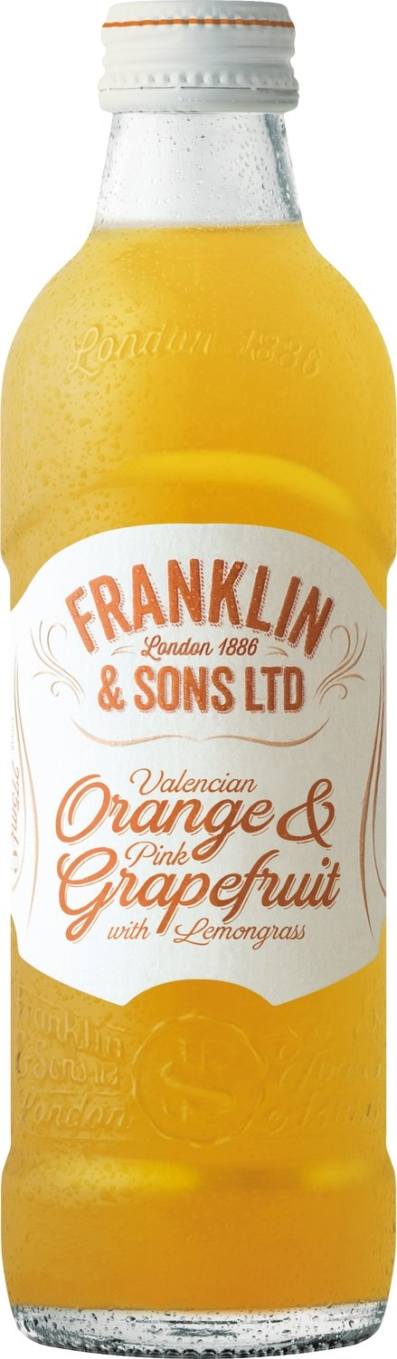 Franklin & Sons Valencian Orange & Pink Grapefruit with Lemongrass (275ML x 12)