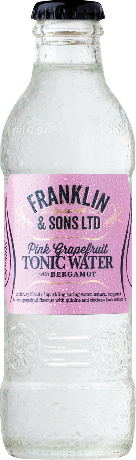 Franklin & Sons Pink Grapefruit Tonic with Beergamot (200ML x 12)