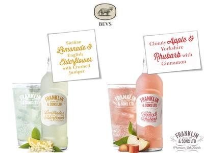 Real Fruit Beverage (Tasting Box) Apple and Rhubarb, Lemonade and Elderflower 275 ML X 12
