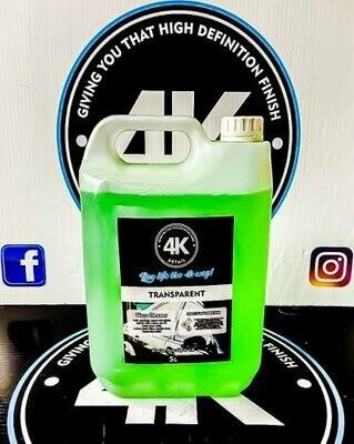 Transparent glass cleaner 5litre