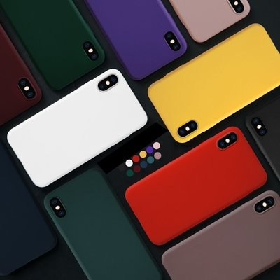 Mobile Phone Case Painting Solid Color TPU Phone Case