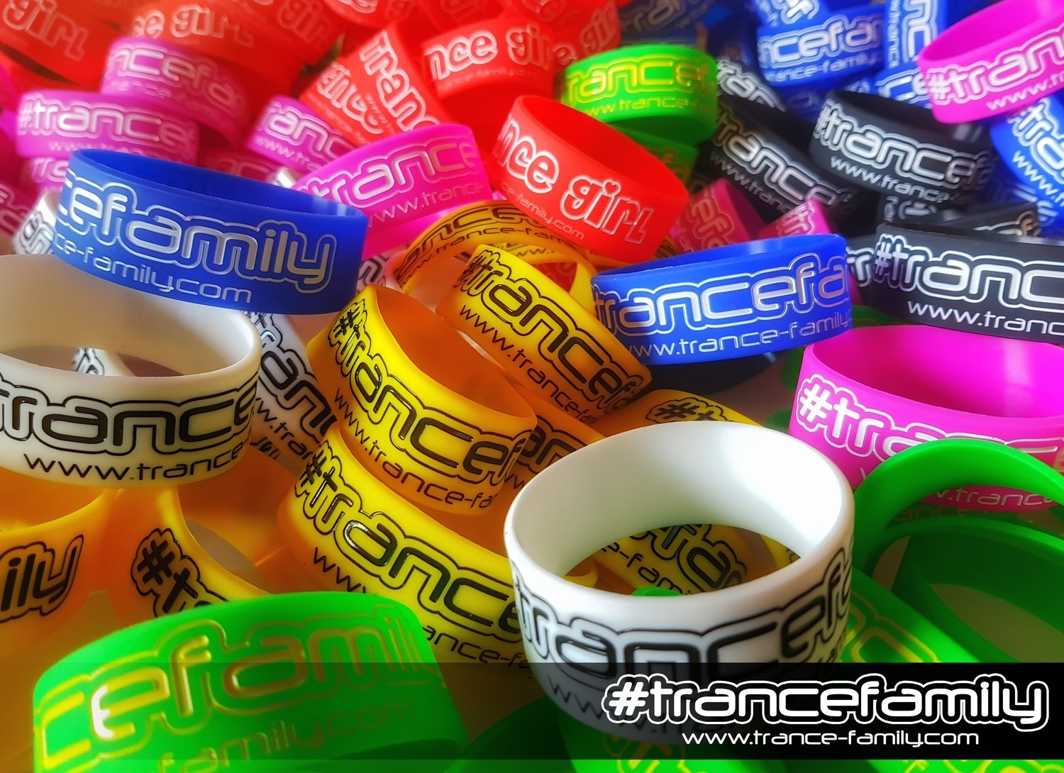 #TranceGirl Wristbands - red