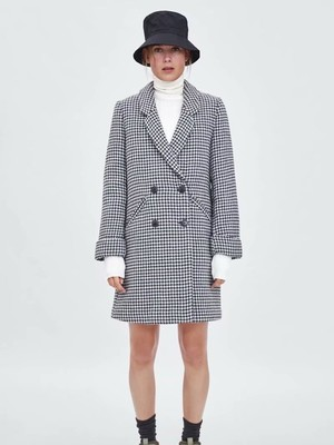 Babz Winter Stripy Long Sleeve Coat