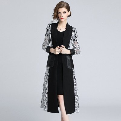 Embroidery Patchwork Coat