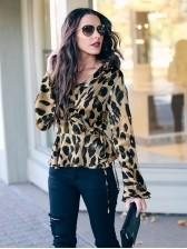 Babz Leopard Tie Waist Blouse