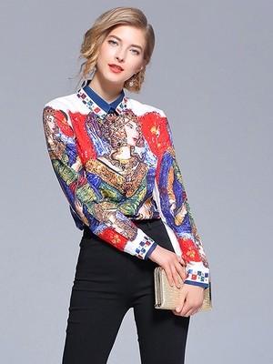 Fashionista Print Blouse