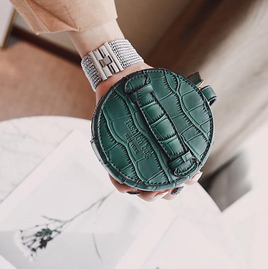 Fashion Crocodile Grain Mini Solid Hand Bag