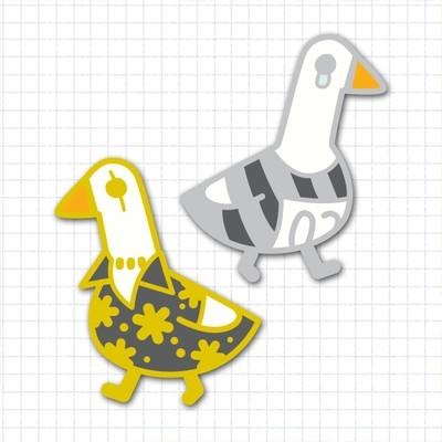 Bad Goose Pin Set