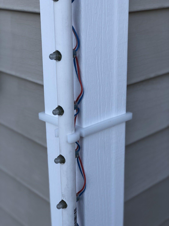 """1/2"""" PVC Corner Post Clips"""