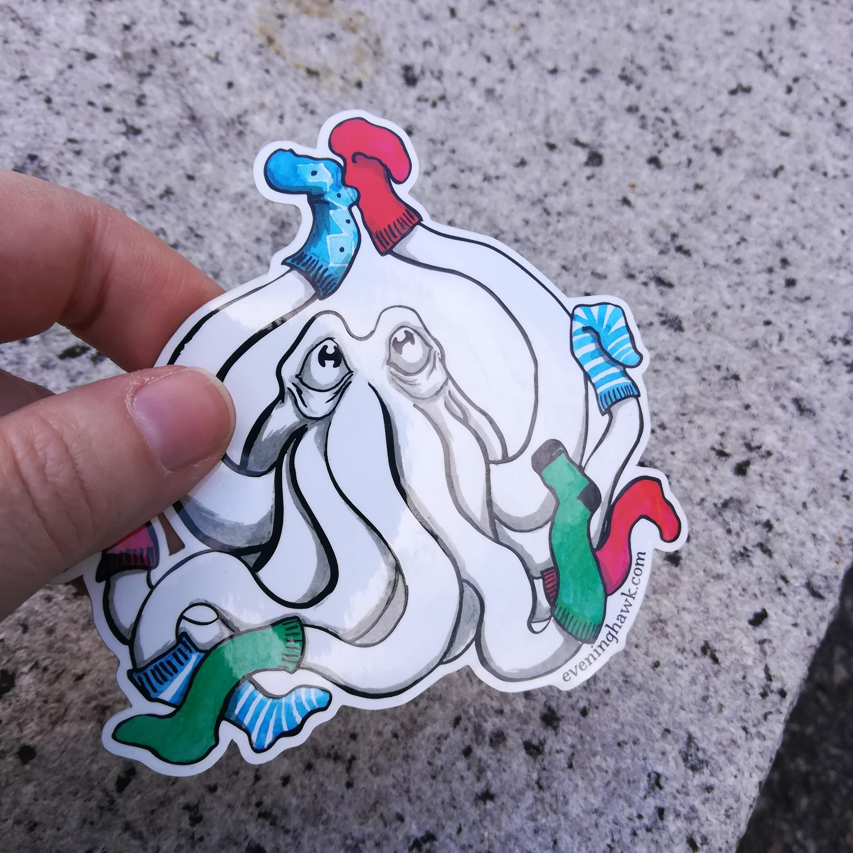 Socktopus Sticker