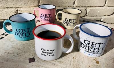 Campfire Ceramic Coffee/Tea Mug - Get Dirty Play in the Sand