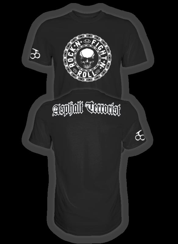 ASPHALT TERRORIST FIGHT `N`ROLL T-SHIRT