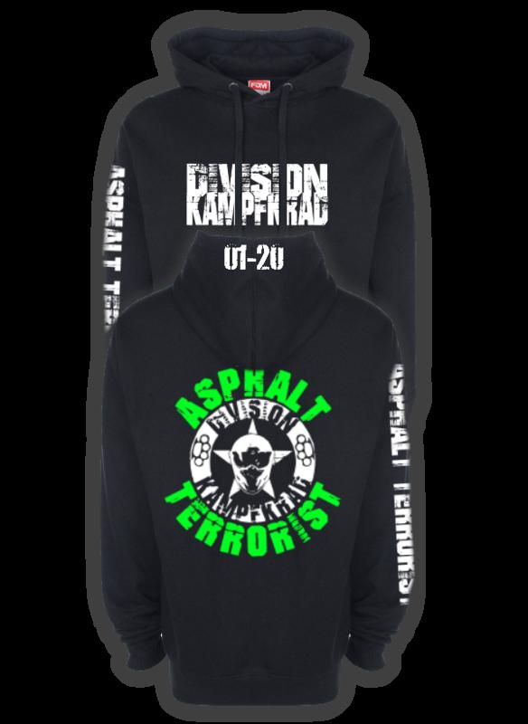 ASPHALT TERRORIST KAMPFKRAD Kapuzenpullover grün/weiß