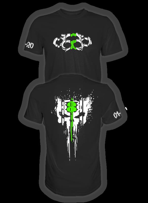 ASPHALT TERRORIST SCRATCH T-SHIRT grün/weiß
