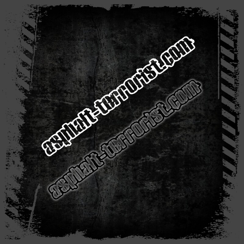 ASPHALT TERRORIST Aufkleber Version 1 - 20 cm