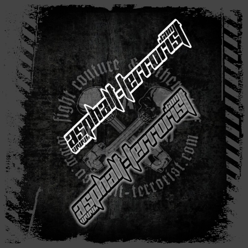 ASPHALT TERRORIST Aufkleber Version 3 - 20 cm