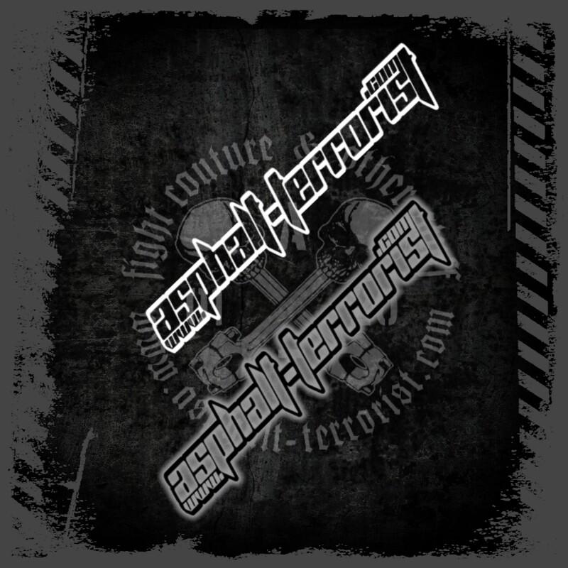 ASPHALT TERRORIST Aufkleber Version 3 - 40 cm