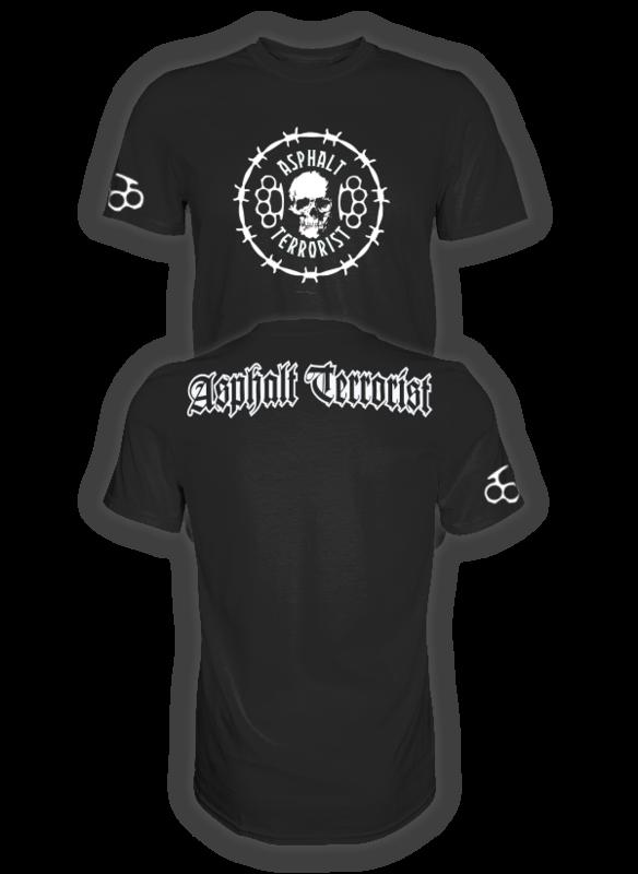 ASPHALT TERRORIST STACHELDRAHT T-SHIRT