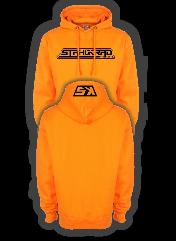 STAHLKRAD Kapuzenpullover orange/schwarz