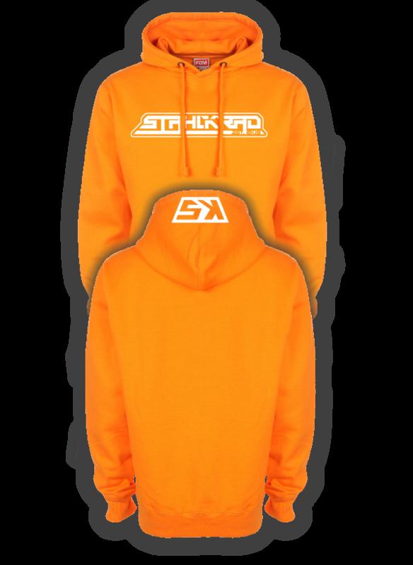 STAHLKRAD Kapuzenpullover orange/weiß